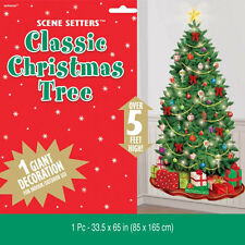 CLASSIC CHRISTMAS TREE Merry Christmas Scene Setter Decoration Add-On 670228