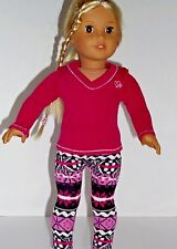 Berry print leggings outfit 18 inch doll clothing fits American girl