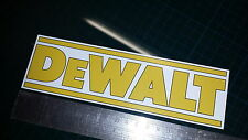 DEWALT Sticker decal, toolbox tool box funny tools replacement builder 20cmx6cm