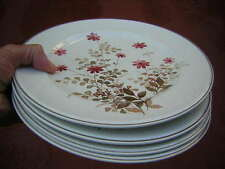 "noritake 4 X 10 1/2"" OUTLOOK DINNER PLATES pink flowers VERSATONE japan B305W10"