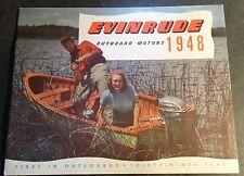 VINTAGE 1948 EVINRUDE OUTBOARD MOTOR SALES BROCHURE 12 PAGES  (284)