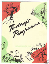 1950 Cunard RMS Caronia  Programme of Events July 30