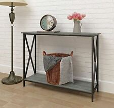 Behind Sofa Table Console For Entryway Rustic Entry Living Room Couch Stand Grey