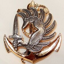 FRENCH MARINE INFANTRY PARACHUTE REGIMENT BERET BADGE