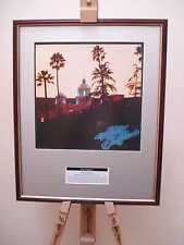 THE EAGLES HOTEL CALIFORNIA LP ORIGINAL FRAMED ALBUM COVER ARTWORK