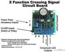 2 Function Flasher Circuit Board To Flashing Rail/Road Crossing