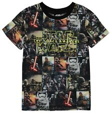 Official STAR WARS Boy's T-Shirt 4-5 Years BNWT Characters Print Collage Top