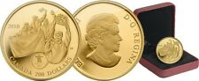 2010 Canada Olympic Gold Medal on Home Soil $200 Gold Coin