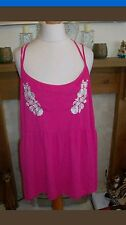 HOT PINK KNOW SEMI SHEER LOOSE FLOATY G21 GEORGE PLUS S 20 STRAPPY TOP TUNIC
