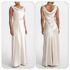 BNWT John Lewis Dessa Ivory Embellished Cowl Neck Evening Occasion Maxi Dress 12