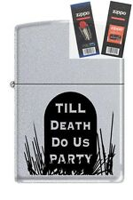 Zippo 3191 till death do us party Lighter with *FLINT & WICK GIFT SET*