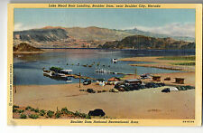 Boulder City NV Lake Mead Boat Landing Postcard 1940