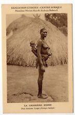 AFRIQUE FRANCAISE Colonie CENTRAFRIQUE Expédition CITROEN femme logo et enfant