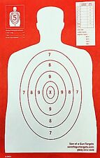 Shooting Targets Red Silhouette Gun Pistol Rifle Range B-29 REV. Qty:100 11x17