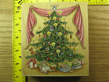 Rubber Stamp Victorian Christmas Tree Stamps Happen Gifts Stampinsisters #1721