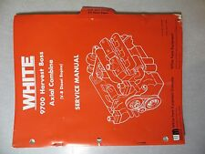Oliver/ White 9700 Harvest Boss Axial Combine (V-8 Diesel Engine) Service Manual