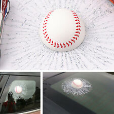 3D Ball Hits Car Sticker Broken Window Baseball Sticker Adhesive Sticker Decals