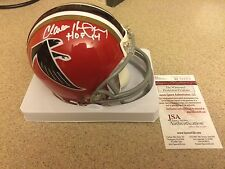 Claude Humphrey 2 Sided Atlanta Falcons Signed Mini Helmet W/ HOF Inscription