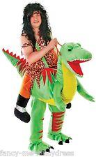 Hombre Para llevar puesto de pie Montable Dinosaurio Cavernícola Festival