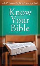 Know Your Bible:  All 66 Books Explained (VALUE BOOKS), George Knight, Good Book