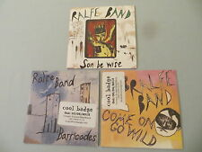 RALFE BAND job lot of 3 promo CD album/singles Son Be Wise Come On Go Wild
