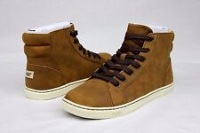 UGG AUSTRALIA GRADIE LEATHER CHOCOLATE HIGH TOP SNEAKERS SIZE 9 US