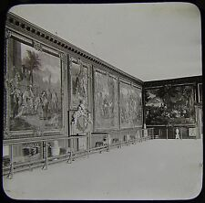 Glass Magic Lantern Slide HAMPTON COURT THE QUEENS GALLERY C1890 PHOTO LONDON