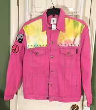 New * Levi's Lacoste RP 4 LF 2X 3X Tie Dyed Denim Jacket w Studs Retail $248