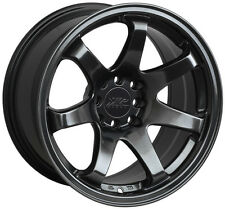 XXR 551 16X8.25 WHEEL 4X100/114.3 +2 CHROMIUM BLACK RIM ( SET OF 4)