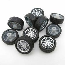 10PCS 16mm*6mm*1.9mm Rubber Black Toy Wheels Robot Tires Model Diy New