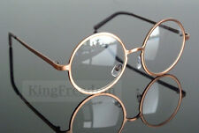 Vintage Round Gold Eyeglass Frame Retro Full Rim Optical Glasses Spectacles Rx