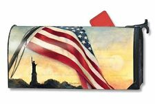 Magnet Works Mailwraps Liberty at Sunset Original Magnetic Mailbox Wrap Cover