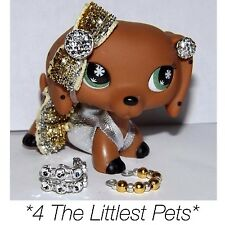 Littlest Pet Shop LPS Clothes Accessories Monopoly Dachshund 7pc Lot Authentic