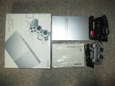 Silver Slim Playstation 2 System Complete in Box JAPANESE Ps2 #116 Near Mint