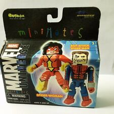 MARVEL Minimates SPIDER-WOMAN & RIOT ATTACK SPIDER-MAN Mini Collectible figure