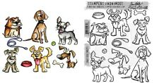 Crazy Dogs Tim Holtz Stampers Anonymous Framelits Die & Cling Stamp Set TH661593