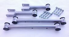 1964-1967 A Body Chevelle Tubular Upper and Lower Control Arms w Hardware SILVER