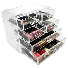 Sorbus Acrylic Cosmetics Makeup and Jewelry Storage Case Display- 2 Large and...
