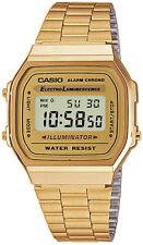 New Casio Gold Digital A168WG-9 Alarm Medium Size Men's Watch A168WG-9W