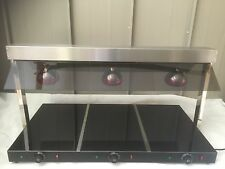 Ceramic Base Plate Warmer, Three Lamp Carvery Buffet Display, 3 Lamps Large 1.1M