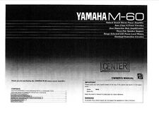 Yamaha M-60 Amplifier Owners Manual