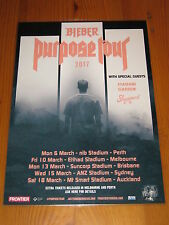 JUSTIN BIEBER - 2017  Purpose Australian Tour - Laminated Poster - NEW RELEASE!