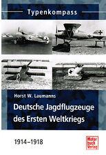 Libro Typenkompass Deutsche Aviones de combate de Primera Ii guerra mundial 1914
