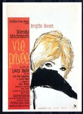 076 CARTE POSTALE film VIE PRIVEE de Louis Malle avec Brigitte Bardot