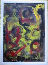 RUDI BAERWIND Öl /Leinwand HAND-SIGNIERT,  86x66cm, abstraktes Bild mit Rahmen