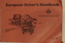 Canadian Forces Base  Lahr Germany European Driver's Handbook Reference Book