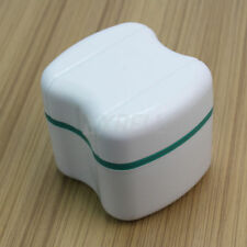 Denture Bath Appliance False Teeth Box Storage Case Rinsing Basket Container