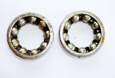 """(PAIR) Bottom Bracket 1/4"""" (Inch) x 9 Ball Cage bearings STD, Square Taper Axle"""