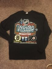 Men's Size XL Black Long Sleeve T-Shirt Winter Classic 2010 Bruins Flyers Hockey