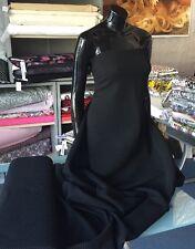 Sustancias de tela 0,50 metros bi-elástica uni Jersey viscosa Elastán Negro